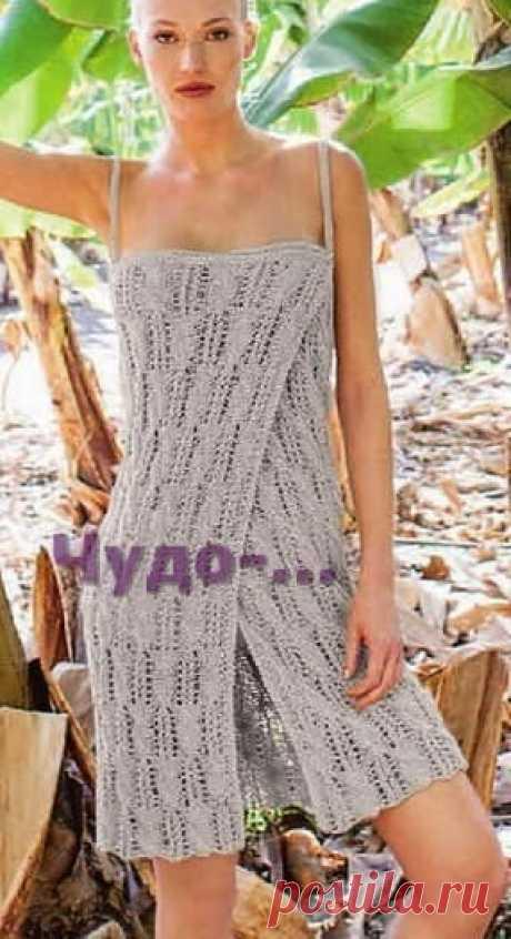 18 Пляжное платье спицами  