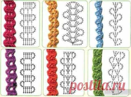 Вязание-крючок-Рисунки и схемы >Брюггская тесьма.