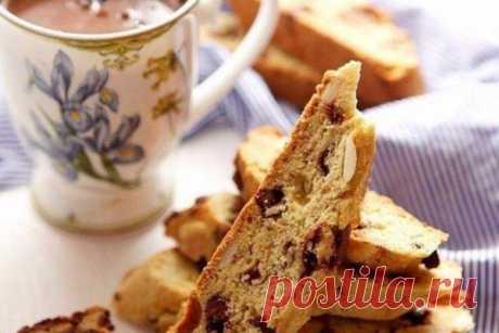 Итальянское печенье «Бискотти» с шоколадом и миндалем, рецепт с фото | Вкусные кулинарные рецепты