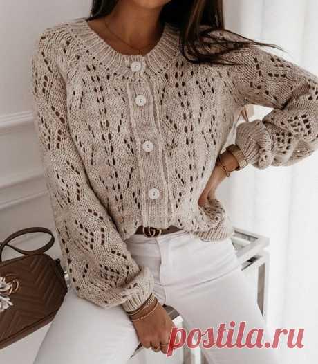 Вяжем стильную кофту — Красивое вязание
