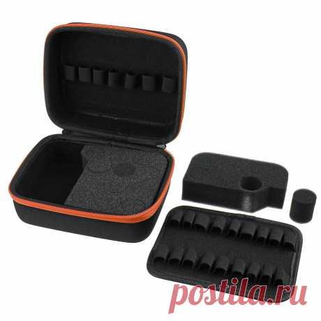 30 slot essential oil case for 5/10/15ml essential oil bottles portable nail polish storage bag Sale - Banggood.com