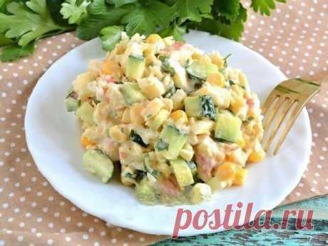 Как приготовить салат «снежный краб». - рецепт, ингридиенты и фотографии
