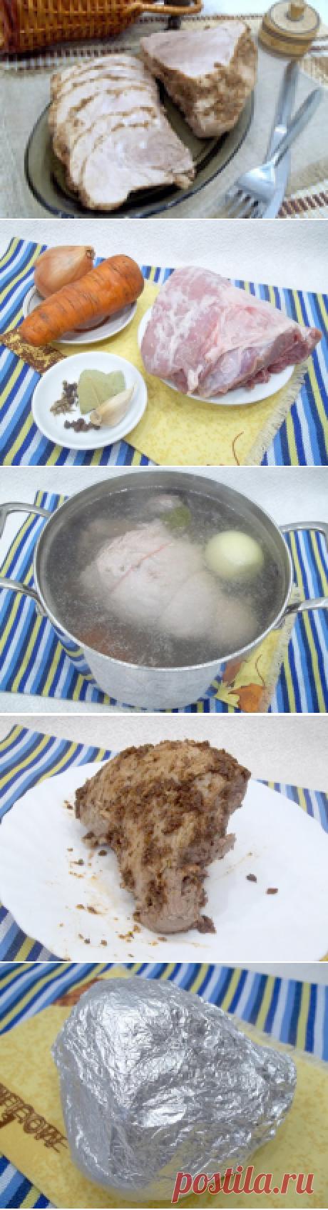 Домашняя буженина- рецепт не требует ни времени, ни усилий, даже духовки не надо..