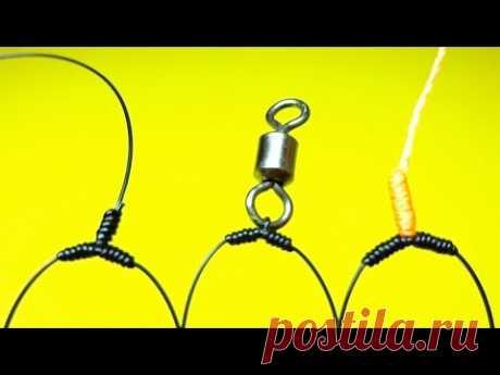 Топ 3 как привязать поводки чтобы они не путались | как привязать отводной поводок | рыболовные узлы - YouTube