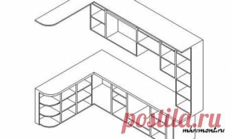 El diseñado de los muebles de cocina por las manos: el dibujo de los armarios, el dibujo del armario bajo el túnel de lavado, las dimensiones importantes del juego, el dibujo del armario bajo el horno