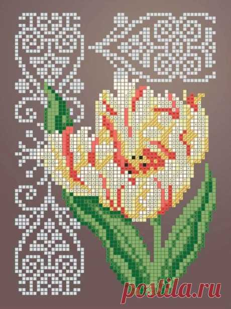 Схема для вышивки бисером Цветы «Зупа»™ «Тюльпан 2345» (A5) 15x18 (ЧВ-2345 (10)) Схемы вышивки бисером - это специальная ткань с рисунком для вышивания бисером. Схема для вышивания нанесена на ткань в виде цветных обозначений поверх изображения. В состав входят рисунок на ткани и инструкция по вышиванию. Бисер в состав не входит.