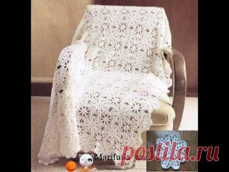 How to crochet white afghan blanket free easy pattern tutorial