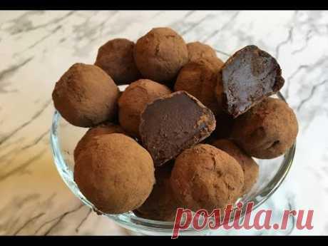 Шоколадные Трюфели/Домашние Конфеты/Chocolate Truffle Recipe/Очень Простой Рецепт(Быстро и Вкусно)
