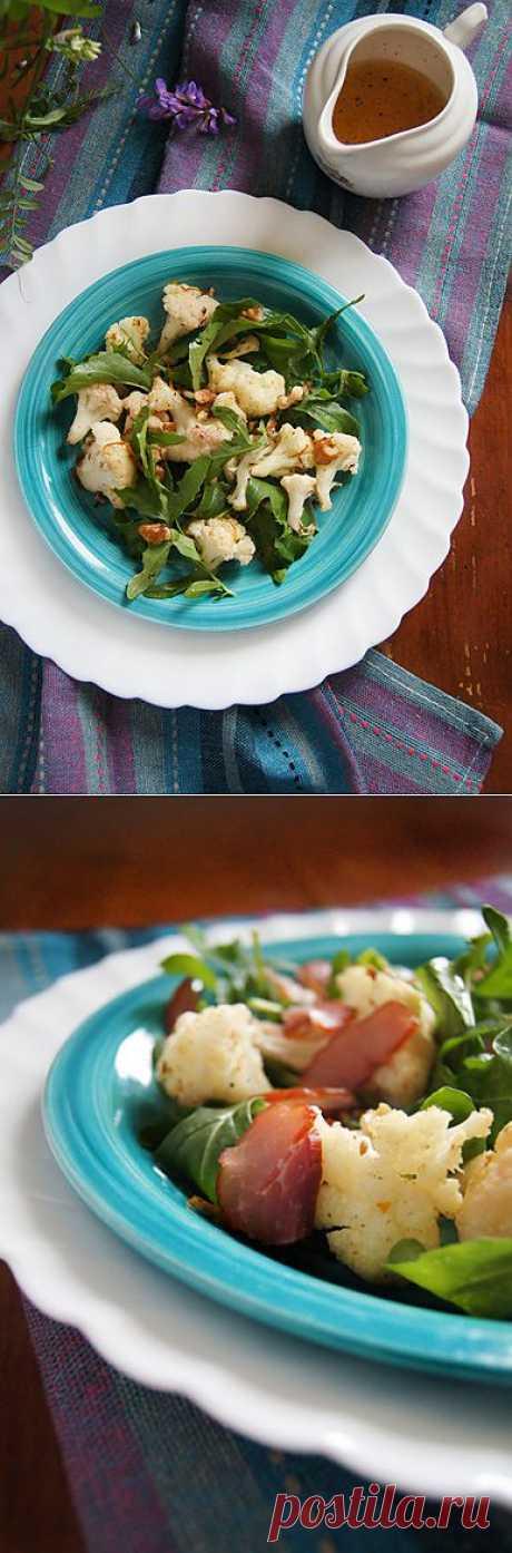 Заметки на кухонных занавесках - Салат из запечёной цветной капусты с рукколой и орехами