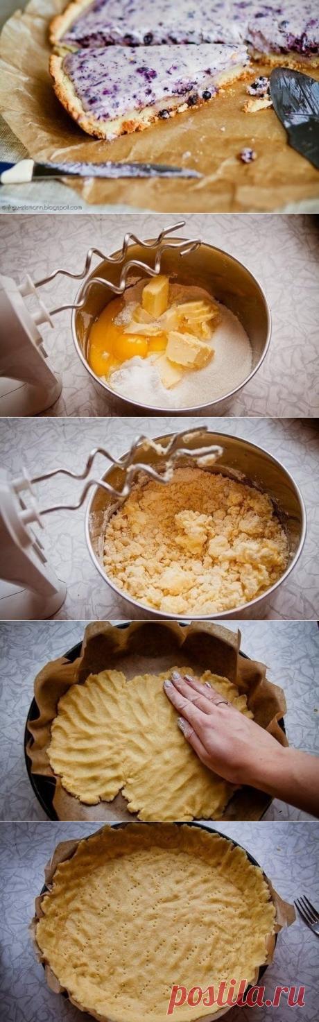 Как приготовить черничный пирог с творогом - рецепт, ингридиенты и фотографии