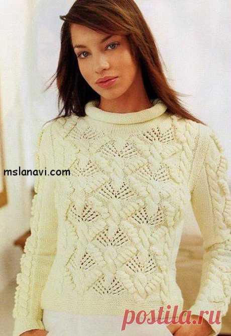 Короткие женские пуловеры - Вяжем с Лана Ви Короткиеженские пуловеры в белом и коричневом — две модели с разными узорами, но совершенно одинаковые по форме. Первая модель белого пуловера переведена из итальянского журнала по вязанию, вторая — очень подобная была опубликована отечественном журнале.Низ, манжеты и горлышко практически точь-в-точь в обоих моделях. Короткие женские пуловеры Короткий белый пуловер с шишечками РАЗМЕРЫ: 42р (46р) НЕОБХОДИМО: […]