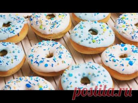 ПРОЩЕ ПРОСТОГО! ПОНЧИКИ 🍩 с гразурью. Простой рецепт пончиков, как приготовить пончики