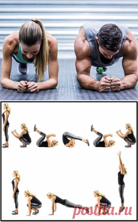 Бурпи: упражнение, которое сжигает калории лучше бега (видео) - tochka.net