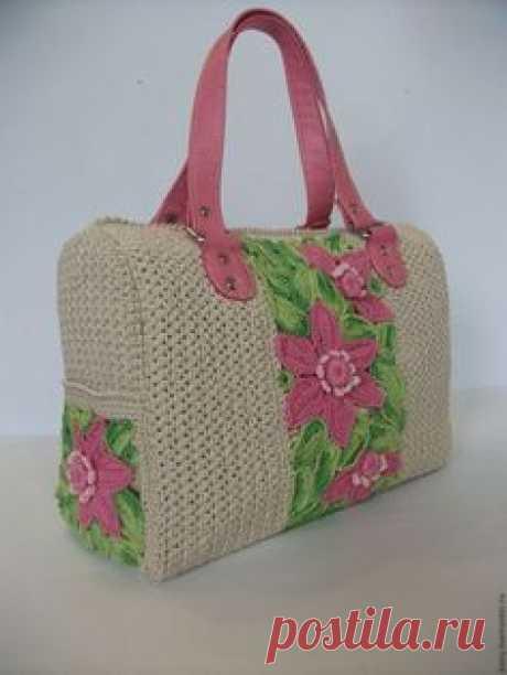 876cf3fe67ff Женские сумки ручной работы. Ярмарка Мастеров - ручная работа. Купить  вязаная сумка-саквояж