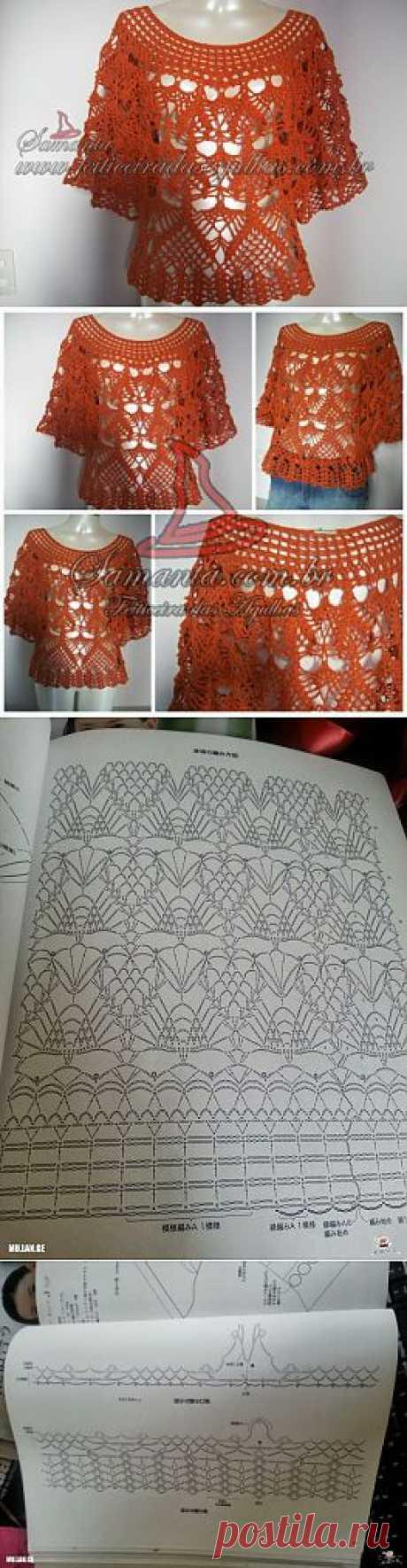 блуза крючком