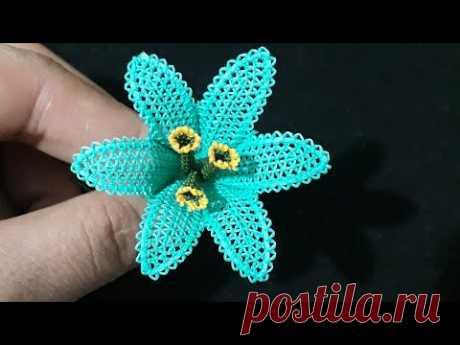 #İğne#oyası muhteşem#zambak#çiçeği yapılışı | farklı çiçek modelleri yapılışı.  embroidered needle