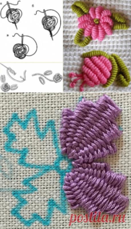 Бразильская объемная вышивка: пошагово для начинающих, схемы, рисунки