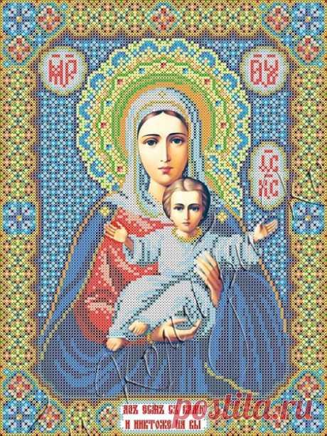 Богородица ИК3-0273 Леушинская икона Божией Матери. Схема для вышивки бисером Феникс купить в Украине, цена 85,00 грн ИК3-0273