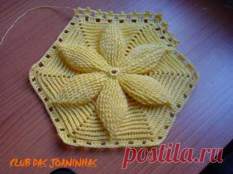 Интересный мотив - Croche - flor maravilhosa da mary dolls em croche.
