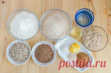 Цельнозерновой хлеб с солодом и злаками   Волшебная Eда.ру
