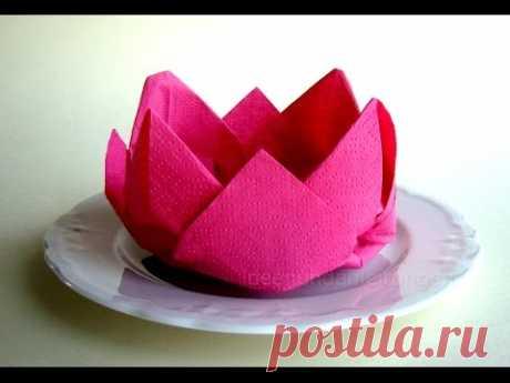Składanie Serwetek: Kwiat - Składanie Serwetki: Róża