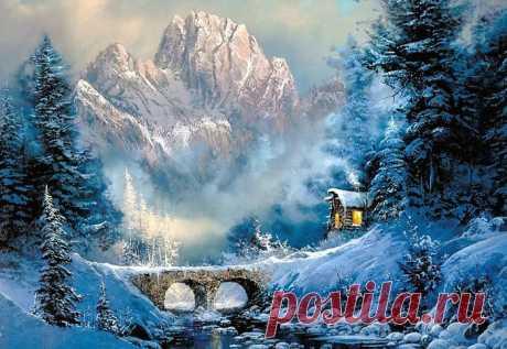Зимняя сказка. Живопись Ted Blaylock | Newpix.ru — позитивный интернет-журнал