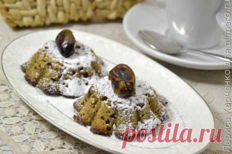 Творожный десерт с какао и финиками в духовке