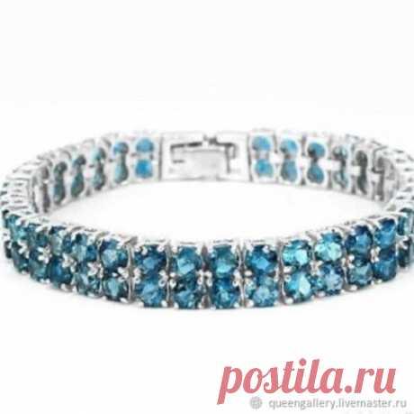 Винтаж: Изящный браслет с натуральными природными топазами London Blue – купить на Ярмарке Мастеров – KR2Z2RU | Браслеты винтажные, Москва