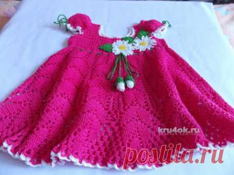 Платье для малышки Маленькая фея. Работа Натальи - вязание крючком на kru4ok.ru