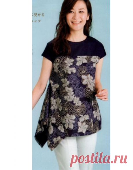 Оригинальная блуза. Выкройка на размеры M,ML,L