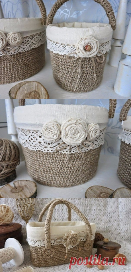 Las cestas dzhutovye de los cubos de plástico