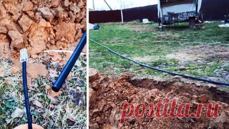 Как быстро протянуть провод через 25 метровую трубу Для надежной защиты, кабель часто протягивается не в тонкой гофротрубе, а в ПНД. Это позволяет его уберечь практически от любого негативного воздействия. Проблема только в том, что в ПНД трубах нет проволоки для протяжки, как в гофре, поэтому провод никак не хочет проходить, а длиной труба 25