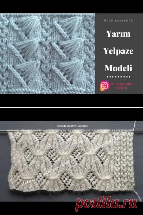 #33 Yarım Yelpaze Modeli - Örgü Modelleri / Knitting Patterns - YouTube