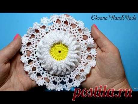 Master class on knitting of motive a hook. Crochet DIY