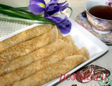 Заварные блины на сметане – кулинарный рецепт