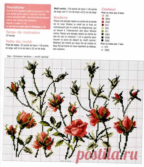 Розы на тёмном фоне — подушка — схема вышивки крестом Посмотрите запись, чтобы узнать подробности.