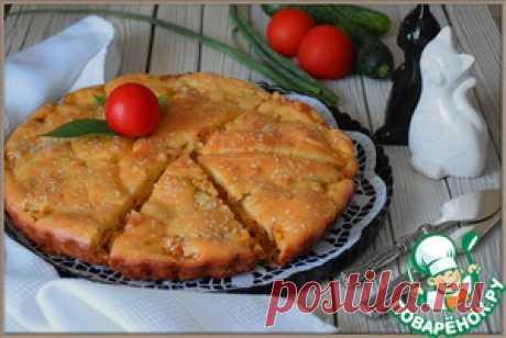 Капустный заливной пирог на майонезе - кулинарный рецепт