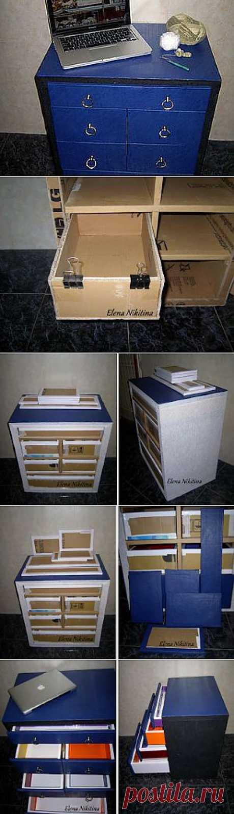 Комод из картона - Ярмарка Мастеров - ручная работа, handmade