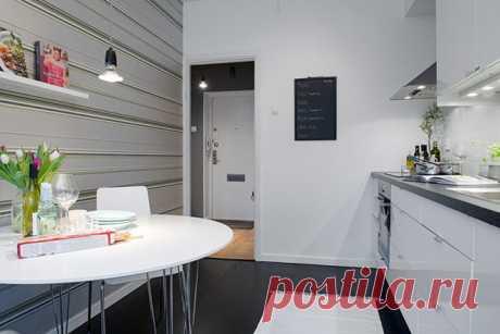 Дизайн интерьера маленькой квартиры в Готеборге, Швеция
