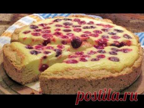 Berry and cottage cheese pie of video the recipe of UcookVideo.ru - YouTube