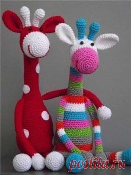 Схемы вязания игрушек крючком. Жираф / Вязание игрушек на спицах и крючком, схемы и описание / КлуКлу. Рукоделие - бисероплетение, квиллинг, вышивка крестом, вязание