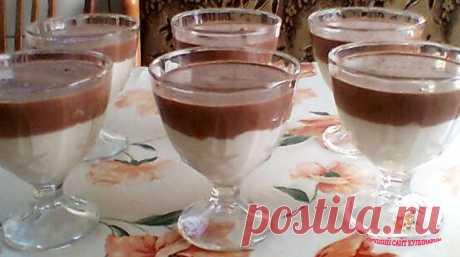 Очень любимое с детства лакомство - сметанное желе с какао!