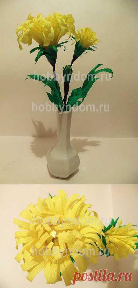 МК.Цветы из конфет одуванчик ХОББИн ДОМ