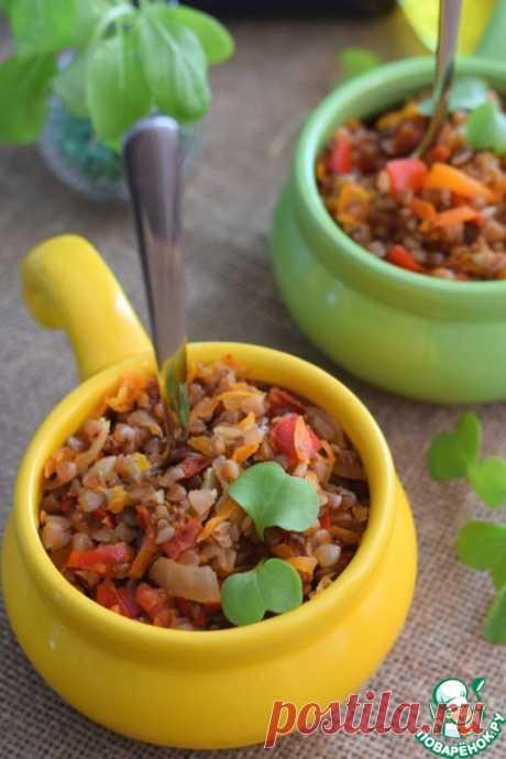 Гречка с овощами в рукаве – кулинарный рецепт