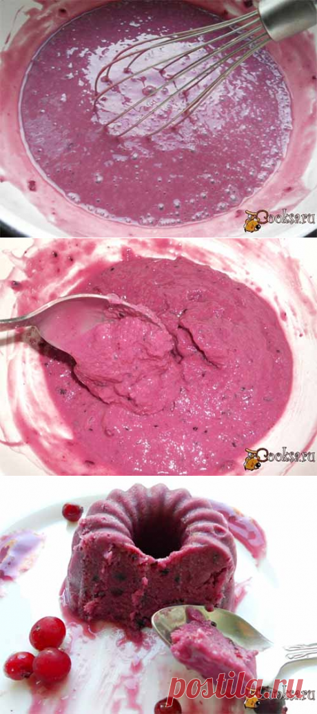 Ягодное мороженое на йогурте