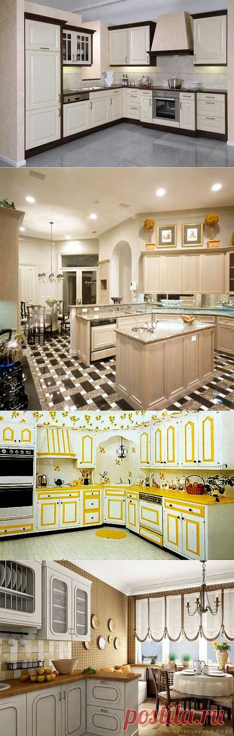 Selection of interiors of kitchen.