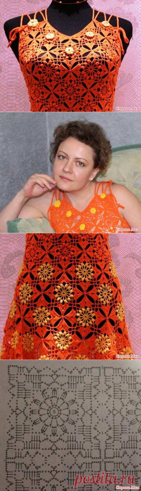 """Сарафан """"апельсиновое настроение"""". - Вязание - Страна Мам"""