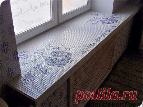 Ideas on not banal registration of a window sill: they precisely deserve your attention
