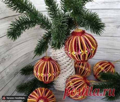 Украшения на ёлку шары новогодние ручной работы купить в Минске и Беларуси, цены на HandMade