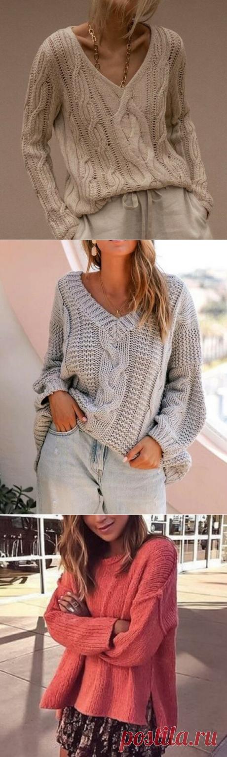 Модные, стильные, эффектные! Подборка вязаных пуловеров и джемперов   Идеи рукоделия   Яндекс Дзен